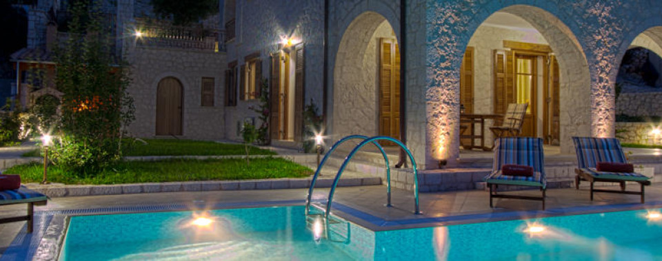 Stone-built luxury villa in Lefkada